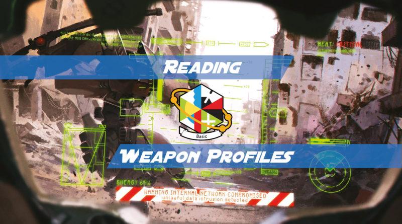 Reading Weapon Profiles